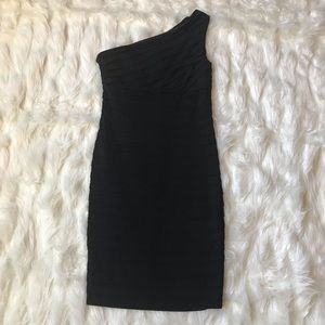 London Times Black Bodycon Dress, Size 4